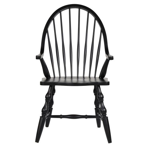 Windsor-Spindleback-Arm-Chair-Front-view-DLU-C30A-AB