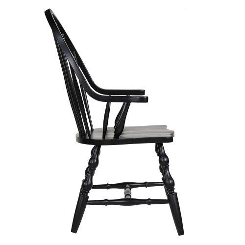 Windsor-Spindleback-Arm-Chair-Side-view-DLU-C30A-AB