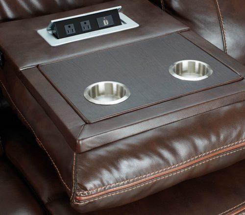 Avant Motion Sofa in Brown- Detail of console- SU-AV8604041-305