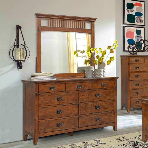 Mission Bay Collection-Dresser mirror-angle view in room setting-CF-4930-34-0877