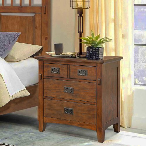 Mission Bay Collection-Nightstand angle view in room setting-CF-4936-0877