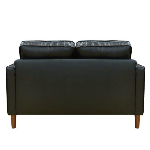 Prelude loveseat in black-back view-SU-PR15070-80-200E