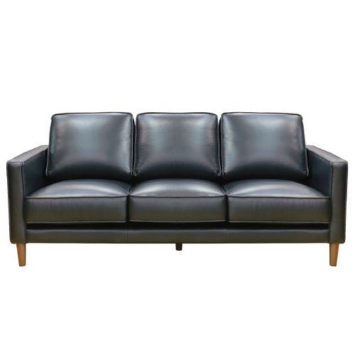 Prelude sofa in black-front view-SU-PR15070-80-300E
