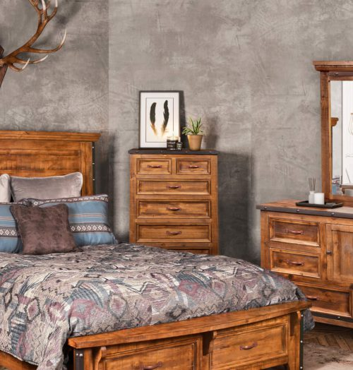 Rustic City Chest in room setting-HH-4365-330
