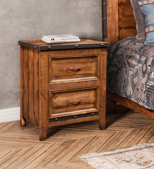 Rustic City Collection- Nightstand in room setting-HH-4365-350