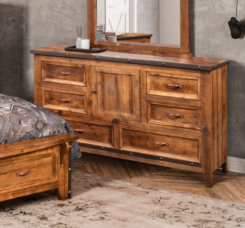 Rustic City dresser angle in room setting-HH-4365-310