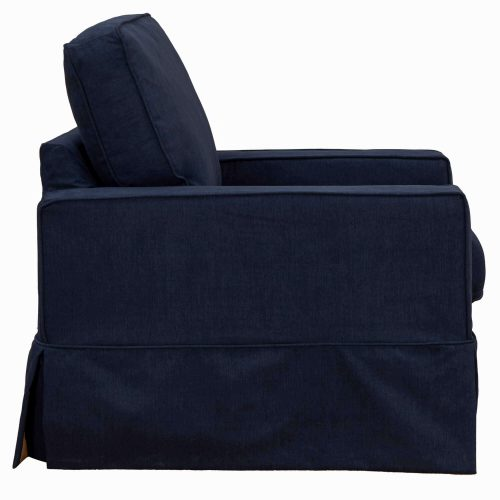 Americana Slipcovered Collection Chair side view. Fabric color 391049 2