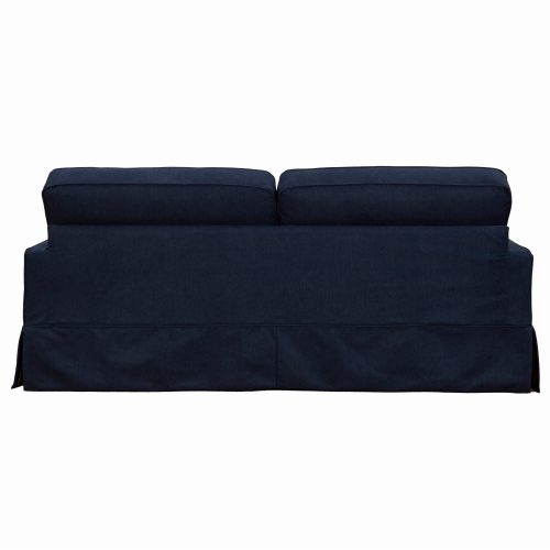Americana Slipcovered Collection Sofa, back view. Fabric color 391049