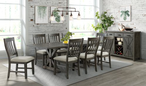 Trestle Dining Collection-ED-SK100-170SR-10P