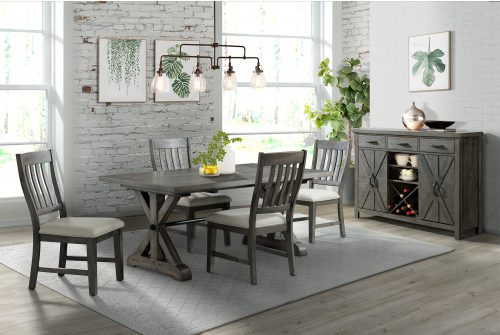 Trestle Dining Collection-ED-SK100-170SR-6P