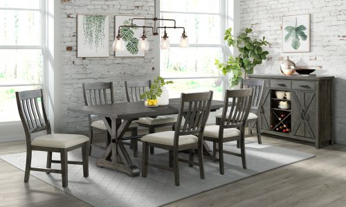 Trestle Dining Collection-ED-SK100-170SR-8P