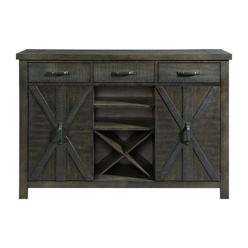 Trestle Dining Collection-Server-front view-ED-SKSR